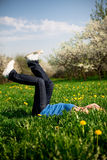 On the spring grass Stock Images