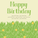 Spring grass card Royalty Free Stock Photography