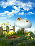 Spring in the grassland Stock Images