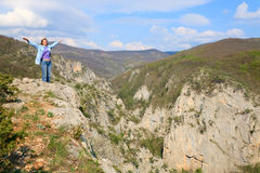 Spring Great Crimean Canyon landscape Royalty Free Stock Photo