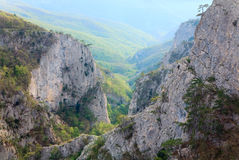 Spring Great Crimean Canyon landscape (Ukraine). Royalty Free Stock Photography