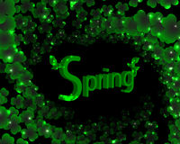 Spring green background with foliage Royalty Free Stock Image