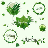 Spring green badges Royalty Free Stock Image