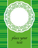 spring green banner with napkin on the green background, vector Royalty Free Stock Images