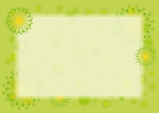 Spring green border. Spring floral frame. Fresh spring background. Green vector background Royalty Free Stock Photography
