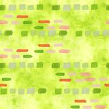 Spring green brush strokes for scrapbooking. Watercolor coloured green texture. A seamless pattern with abstract patchwork. Background vector illustration
