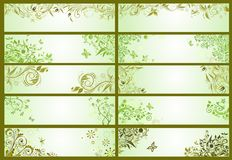 Spring green decorative banners Royalty Free Stock Images