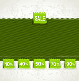 Spring green environment arrival label sale Royalty Free Stock Image