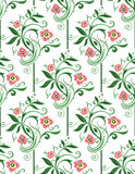 Spring green floral seamless. Spring green seamless pattern on the white background vector illustration