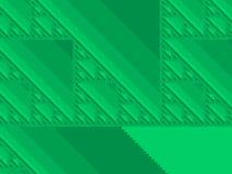 Spring green fractal background Stock Images