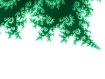 Spring green fractal background Stock Photography
