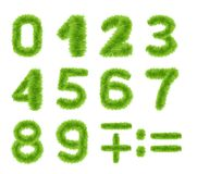 Spring Green Grass Numbers Set stock image