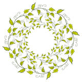 Spring green leaves border Stock Image