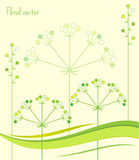 Spring Green Leaves. Floral Background. Vector Illustration Spring Patterns. Stock Photography