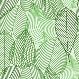 Spring green leaves seamless pattern Royalty Free Stock Photography