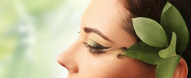 Spring green make-up Royalty Free Stock Photo