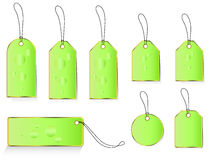 Spring green price and labels tags. Stock Photo