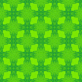 Spring green psychedelic sixties pattern Royalty Free Stock Photography