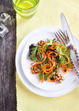Spring green salad with carrot Stock Photos