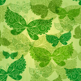 Spring green seamless pattern Stock Images