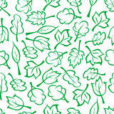 Spring green trees and bushes seamless pattern Royalty Free Stock Photos