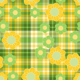 Spring green and yellow pattern Stock Photography