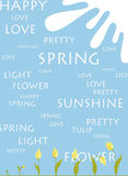Spring greeting blank Stock Image