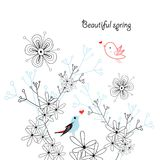 Spring greeting card Stock Photos