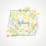 Spring greeting card vector stock illustration