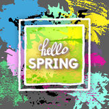 Spring Greeting Postcard. Royalty Free Stock Photography