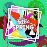 Spring Greeting Postcard. Royalty Free Stock Images