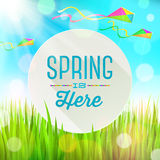 Spring greeting round banner Royalty Free Stock Photography