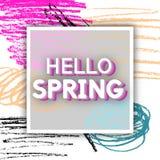 Spring Greeting Royalty Free Stock Photos