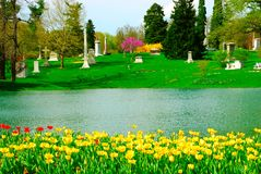 Spring Grove Cemetery. In Cincinnati; Ohio - Established in 1845, Spring Grove is the second largest cemetery in the United States Stock Image