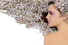 Spring hairstyle Royalty Free Stock Photos
