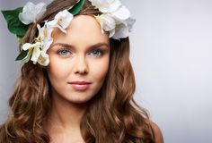 Spring hairstyle Stock Image