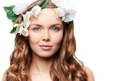 Spring hairstyle Royalty Free Stock Images