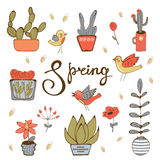 Spring hand drawn collection Stock Images