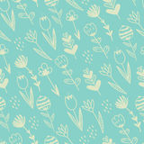 Spring hand drawn floral and abstract elements. Royalty Free Stock Photos