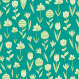 Spring hand drawn floral and abstract elements. Stock Image
