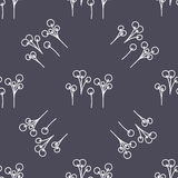 Spring hand drawn floral and abstract elements. Royalty Free Stock Photography