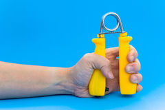 Spring hand grip for exercise. Spring hand grip for hand exercise Stock Image