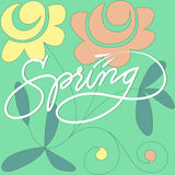 Spring Hand Lettered Stock Photo