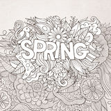Spring hand lettering and doodles elements Royalty Free Stock Photo