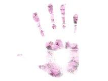 Spring handprint. Spring floral handprint Royalty Free Stock Images