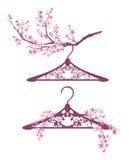 Spring hanger design Stock Photo