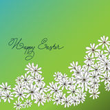 Spring Happy Easter background with chamomiles Royalty Free Stock Photography