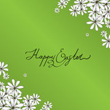 Spring Happy Easter background with chamomiles Stock Photography