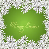 Spring Happy Easter background with chamomiles Royalty Free Stock Image