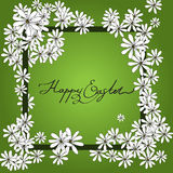 Spring Happy Easter background with chamomiles Stock Photos